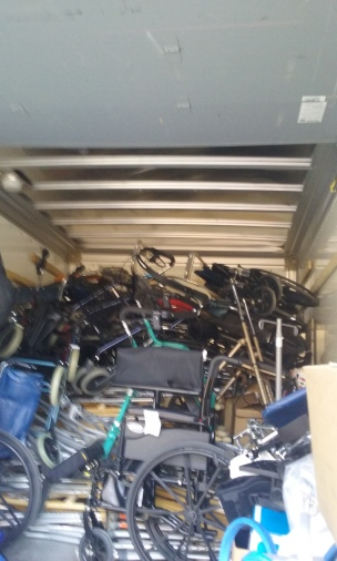 Rented Trucks for Donations